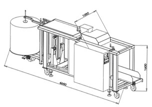 Automatic packaging machine type ST 2 – Raschel bag